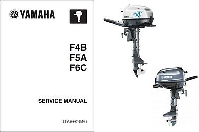 2014-2015 Yamaha F4 F5 F6 Outboard Motor Service Repair Manual CD -- F4B F5A F6C