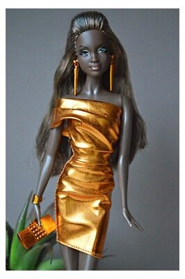 2015 Barbie Look CITY SHINE Metallic Bronze dress - NO DOLL