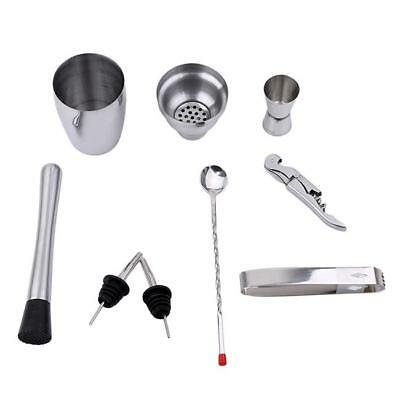 Stainless Steel Cocktail Shaker Mixer Drink Bartender Martini Tools Bar Set LH