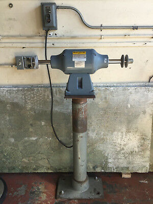 Baldor Buffer Model 334B 3/4 Hp 3 Phase With Stand - Made In Usa -