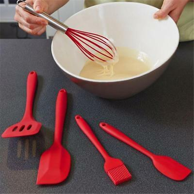 Red  Heat Resistant Silicone Cooking Set Kitchen Utensils Pastry Baking Tool LH