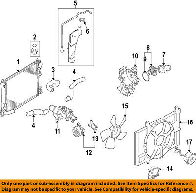 nissan oem 09 18 versa engine coolant thermostat 21200ed00a $20 36