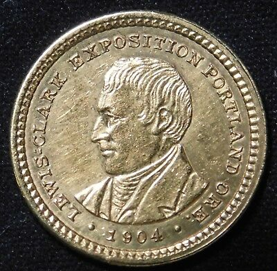 1904 G$1 Lewis and Clark Gold Commemorative Dollar