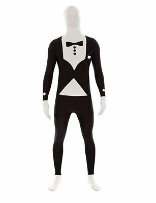 Morphsuit Mens Adult Tuxedo Suit Second Skin Bodysuit Halloween Party Costume