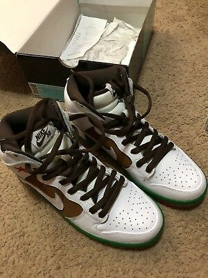 2014 VNDS Nike Dunk High Premium SB California sz 9 CALI High PECAN WHITE b6bf22a43a3f
