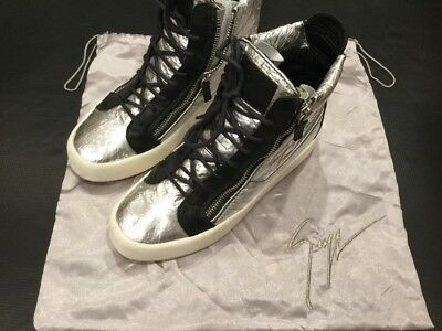 a670c5560d9be Giuseppe Zanotti Foil Hi Top Sneakers Size 42.5 9.5 Authentic And $700  Retail
