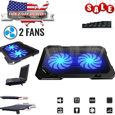 Laptop Cooling Pad Cooler Stand Coolpad Fan Mat External 15 inch Notebook USB