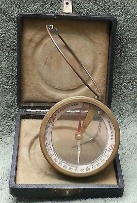 Old Antique Dip Needle Miners Compass W. S. Darley & Co. In Cased Box Surveyors