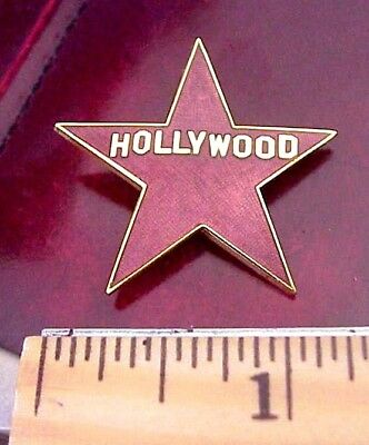 Hollywood California Enamel Star Souvenir Lapel Pin