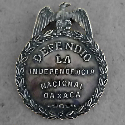 "MEXICO * French Intervention * OAXACA * ""Defense of National Independence"" MEDAL"