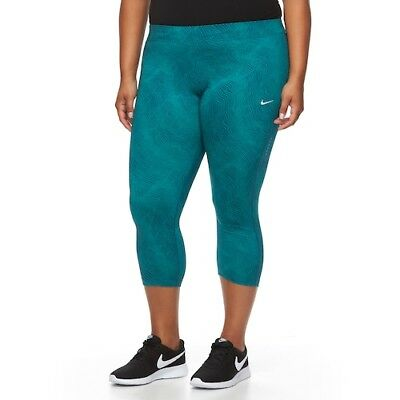3bdf2a29ce9a3 NIKE Womens Power Essential Workout Crop Leggings (PLUS SIZE 2X 3X) NWT  MSRP $65