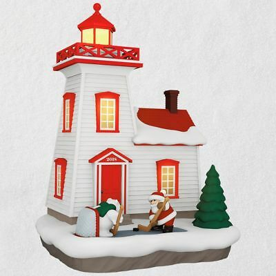 Hallmark 2018 ~ Holiday Lighthouse Ornament with Light - 7th in Series