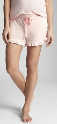 NWT Gap Maternity Pure Body Sleep Shorts Size Med Color Pink Stripe $30 #268898