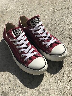 6140db257c79c1 MEN S CONVERSE SIZE 5 All Star Slip On Lo-Top Sneaker Maroon ...