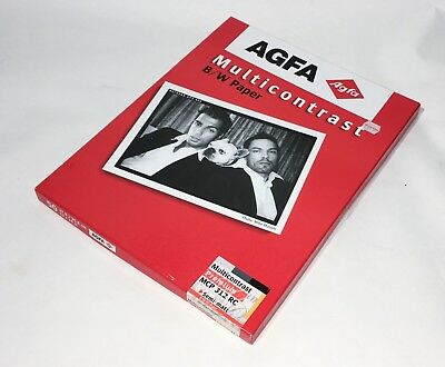 AGFA MULTICONTRAST 312 RC BLACK AND WHITE 11x14 inch PAPER EXP 06/2005