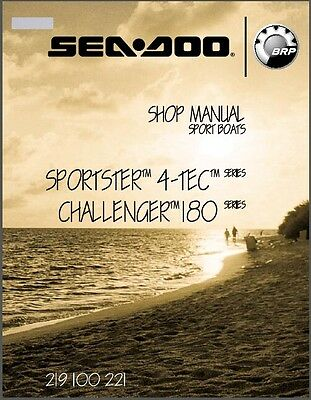 2005 Sea-Doo Sportster 4-TEC / Challenger 180 Jet Boat Service Shop Manual CD