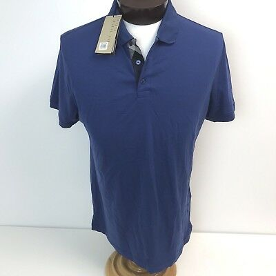 10ddc2bb46ba Burberry Brit Hauxton Modern Fit Jersey Polo Shirt Blue XL Slim Flaws