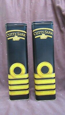 (2) Vintage Cutty Sark Scots Whisky Advertising Tins