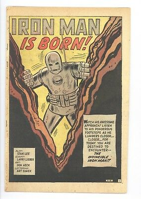 Tales of Suspense #39 Vol 1 Coverless Low Grade 1st Appearance of Iron Man