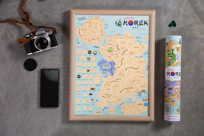 Scratch Off Map Korea Edition / Personalized Travel Poster Travel Atlas Decor