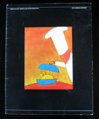 JEAN-MICHEL FOLON Little Men Hot Dog Chef RESTAURANT ASSOC Annual Report 1969