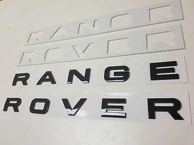 NEW GLOSS BLACK 3M LETTERS HOOD OR TRUNK TAILGATE NAMEPLATE Fit For RANGE ROVER