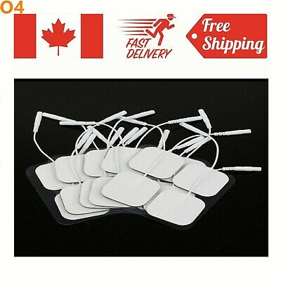 4/8/20Pcs Replacement Massage Tens Units Electrode Pad EMS Pin Style