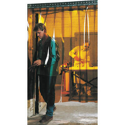 STEINER Welding Strip Curtain,6 x 6 ft,Amber,PVC, 83411