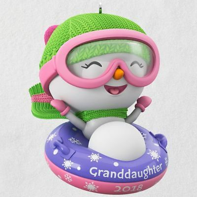 Hallmark 2018 ~ Granddaughter Snowman Ornament
