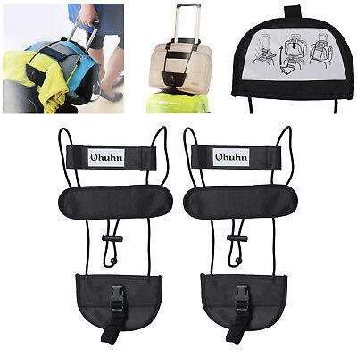 2x Bag Strap Luggage Suitcase Adjustable Belt Carry On Bungee Easy For Travel AU