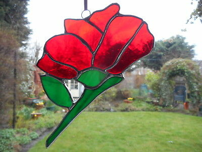 Stained Glass Flower Suncatcher or Wall Mount.