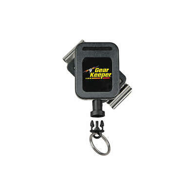 GEARKEEPER Nylon Key Retractor,Small,Belt Clip,36inL, RT4-5850, Black