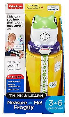 New Fisher Price Think & Learn Measure with Me Froggy Kids Talking Tape Measure