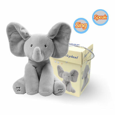 Peek-a-boo Elephant with Music Baby Pal Animated Flappy Plush Toy Gift Soft Gift