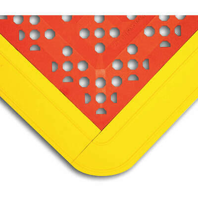"WEARWELL Interlock Drainage Mat,Red,2ft.3""x3ft.6"", 546"