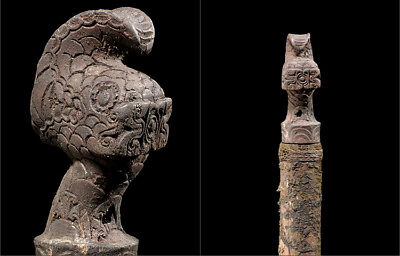 Dayak shaman's container with fine Aso stopper, Borneo - very good provenance