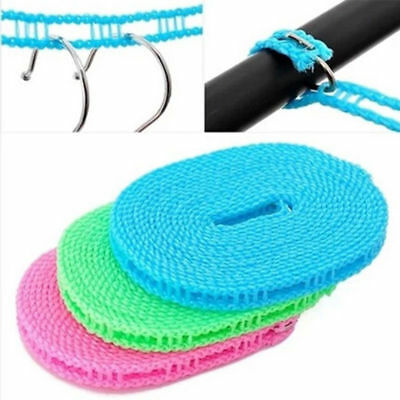Nylon Clothes Rope Line Non-slip Windproof Cloth Hanging Rope 5Meter/16.4FT