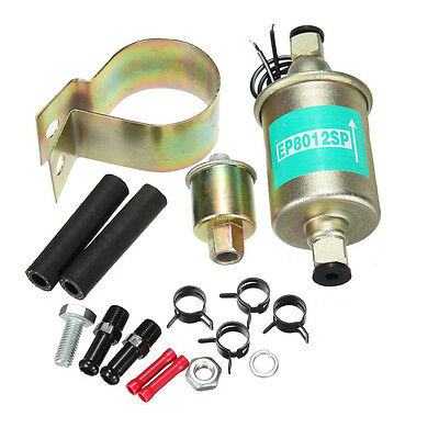 12V Universal Electrical Fuel Pump Inline Diesel Petrol Low Pressure UK SELLER