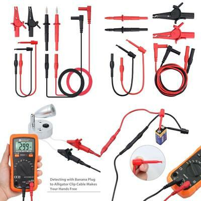 Best Multimeter Test Lead Set Cable Pen Clips Electronic Test Lead Accessory Kit