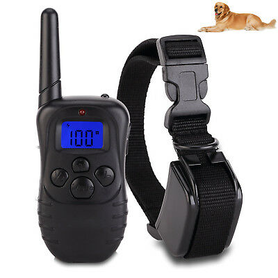 Dog Training Collar LCD Remote Rechargeable Rainproof Vibration Shock Electric