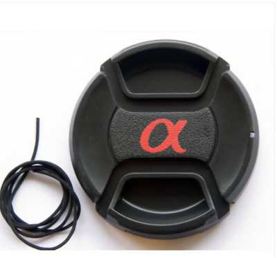 "72mm Lens Cap Snap-on for Sony Alpha with ""α"" symbol - -UK Stock - Fast Delivery"