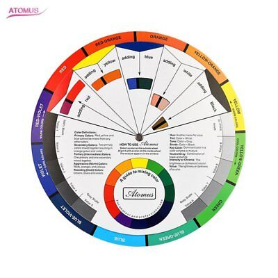 ARTIST OIL ACRYLIC POCKET COLOUR WHEEL PAINT MIXING GUIDE PAINTING ART smll G@