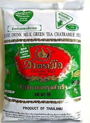 Tea Green Thai Chatramue Brand Mix Number One Original Milk Hot Cold Drink 200g