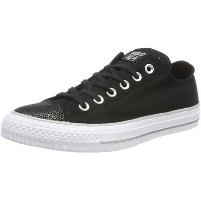 873ae1ff1a7d Converse Chuck Taylor All Star Tipped Metallic Toecap Ox Black Textile Adult