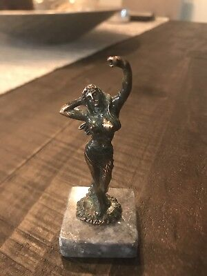 Solid Brass Statue/ Figurine Venus; Goddess Of Love;Marble Base;From Greece
