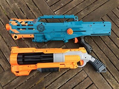 Nerf Zombie Strike LongShot CS-12 and Vagabond Doomlands Excellent condition.