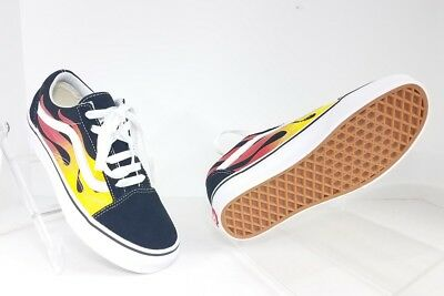 a2e14b0fcb0d45 Vans Old Skool Flame Womens Size 5 Mens Size 3.5 Black Red Yellow  Multi-Color