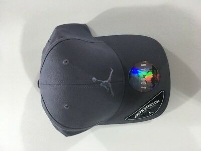 7fa8cd927da Nike Air Jordan Flex Fitted Adult Size Small Medium Gray Bred Hat 606365 021