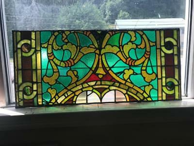 Beautiful Antique Victorian Stained Glass Window From A Closed Church