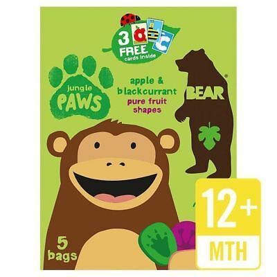 Bear Fruit Paws Jungle Apple & Blackcurrant Multipack 5 x 20g